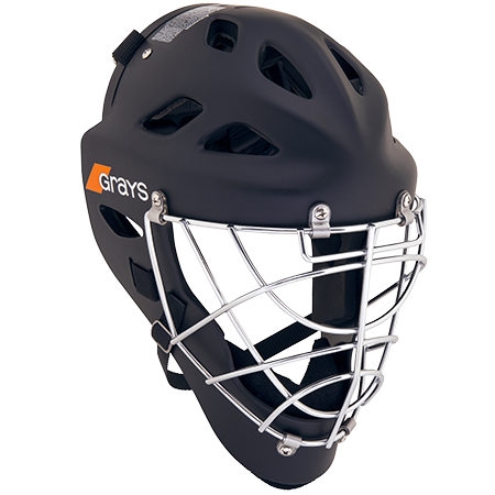 Grays Hockey G600 Helmet Matt Black Front