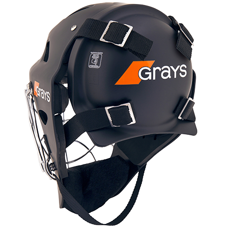 Grays Hockey Goalkeeping Kit G600 Helmet Matt Black, Back